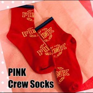 PINK Collegiate Collection Laurel Wreath Crew Sock